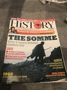 BBC History Magazine July 2016 Somme Special Richard III Aethelstan