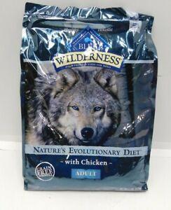 Blue Buffalo Wilderness Adult Dog Food 11 lbs Chicken High Protein Grain Free