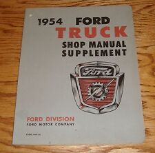 Original 1954 Ford Truck Shop Service Manual Supplement 54