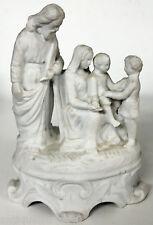 Ancien biscuit religieux la sainte famille, Joseph marie, XIXe scène