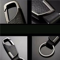 Men's Creative Metal Leather Key Chain Ring Keyfob Car Keyring Keychain `