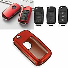 Glossy Red TPU Remote Key Cover FOB For Volkswagen VW MK4 MK5 Golf Jetta GTi
