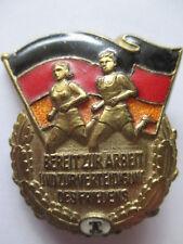 altes Sportabzeichen DDR Bereit zur Arbeit Verteidigung Friedens , Stuf. 1,m.Nr