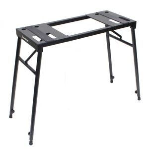 Portable steel keyboard / DJ table stand height adjustable foldable DF018