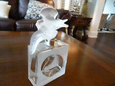 Lalique Crystal France L'AIR Du Temps NINA RICCI Perfume Bottle 2 Doves Stopper