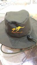 Anzac bush hat hiking Bucket Caps Souvenir Australian  Kangaroo Aussie Wide Brim
