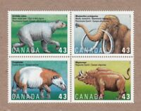 = PREHISTORIC ANIMALS = Canada 1994 #1532a MNH-VF Block of 4 q01