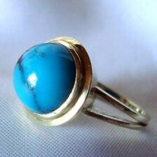 Wundervoller Türkis Ring 585 Gold Goldring big turquoise ring / BW 326