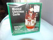 Vintage LeeWards MUSICAL CHRISTMAS CASTLE  Bead Sequin Ornament Kit HTF