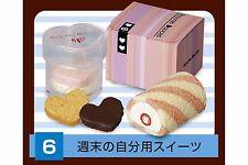 Re-ment Petit Sample Ekinaka Sweets Chocolate Cake heart cookie roll cake - No.6