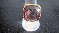 Swarovski Swan Signed Gold tone large Dark Rose Crystal  Ring (55, medium) 592