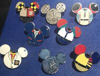 Walt Disney World Hidden Mickey Pins - 2013 Costume Epcot Set of 8 w/ Completer