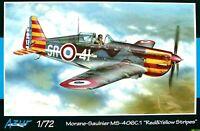 "Azur 1:72 Moraine-Saulnier MS-406C.1 ""Red & Yellow Stripes"" Aircraft Model Kit"