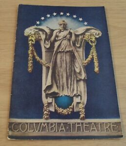 RARE circa 1910's PROGRAM~San Francisco's COLUMBIA THEATRE~Awesome GRAPHICS-Ads