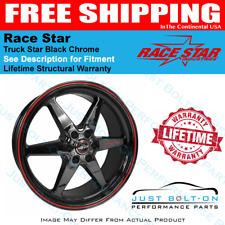 Race Star 93 Truck Star Black Chrome 17x9.5 6x5.50bs 6.625bc 93-795653BC
