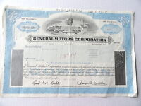 General Motors Stock Certificate Nov 1981 50 Shares CASHED