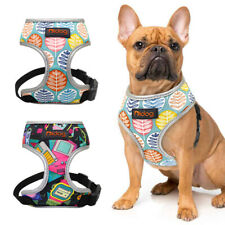 Reflective Dog Harness Adjustable Small Medium French Bulldog Mesh Padded Vest
