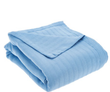 "Northern Nights 100% Micro Cotton Blanket Twin sized at 66"" x 90"" Chambray Blue"