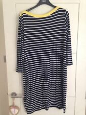 Boat Neck 3/4 Sleeve Striped Plus Size Dresses for Women