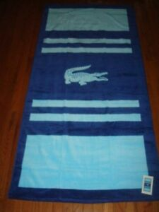 LACOSTE BLUES BEACH TOWEL 36X72 INCHES