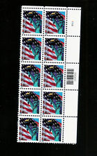 2005 Flag & Liberty Sc 3965 forever rate MNH plate block of 10 Scarce issue!