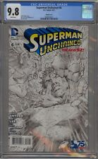 SUPERMAN UNCHAINED #6 - RARE - LEE & WILLIAMS B&W VARIANT - CGC 9.8 - 0280324023