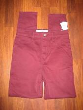 NWT HOLLISTER Burgundy NATURAL WAIST Jean Legging...size 3/26X29