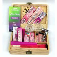 Pink Wooden Rolling Box Set   Pink Rolling Papers / Pink Doob Tube / Juicy Jay C