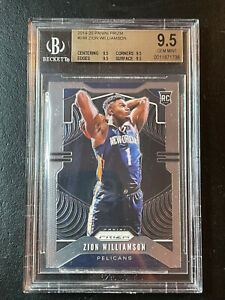 2019 Panini Prizm #248 Zion Williamson Rookie Base. BGS 9.5 Gem MINT. Pelicans