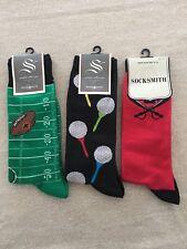 SOCKSMITH Men's Novelty Crew Socks - Lot Of 3 NWT
