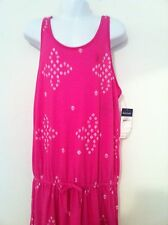 Ralph Lauren Girls Dress Pink Top Orange Bottom Tie Dye Racer Bk Sz L(12-14) NWT
