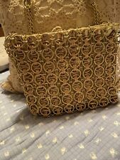 Vintage 1960's Walbarg Chain Link Purse Gold
