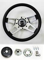 """Fury Scamp Duster Cuda GTX Road Runner Black 4 Spoke Steering wheel 13 1/2"""""""