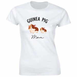 Guinea Pig Mom with Image T-Shirt for Women