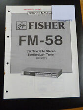 Original Service Manual  Fisher Synthesizer Tuner FM-58