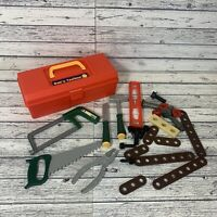 Bob's Tool Box Bob The Builder Red With Toy Saw Hammer Screws Screwdriver 2011
