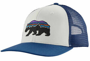 BNWT Patagonia Fitz Roy Bear Trucker Hat Cap DISCONTINUED Box Shipped A BEAUTY!!