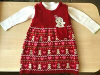 BABY LITTLE GIRLS 2 PIECE WHITE & RED PATTERNED DRESS BY GEORGE 9 - 12 MONTHS