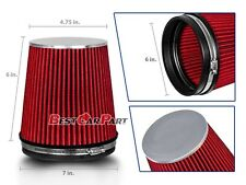 """RED Short 6"""" 152mm Inlet Truck Air Intake Cone Replacement Dry Air Filter"""