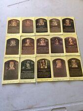15 Hall Of Fame Baseball Postcard Plaques, Brett, Williams, Comiskey, Clemente,