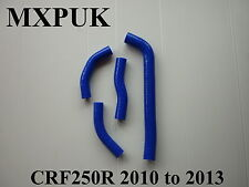 CRF250 2013 SILICONE HOSES IN BLUE 2012 CRF 250 HOSE KIT MXPUK CR250F (415)