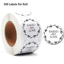 500pcs Baked With Love Sticker for Home Baking Gift Packaging Seals Craft Labels