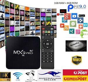 Smart Tv Box MXQ Pro 4K 5G Android 9.0 Quard Core 2.4GHz HDMI WIFI 1GB+8GB