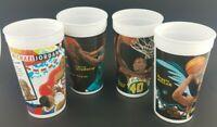 NBA Looney Tunes All-Star Showdown McDonald's Cups Lot of 4 1995 Micheal Jordan