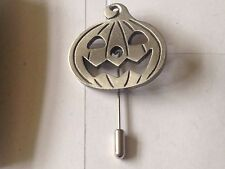 Pumpkin code dr74 Fine English Pewter on a tie stick pin Hat Scarf