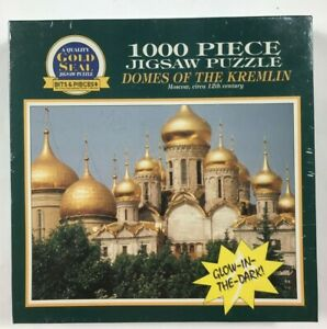 Bits & Pieces Glow In The Dark 1000 Piece Jigsaw Puzzle Domes Of The Kremlin