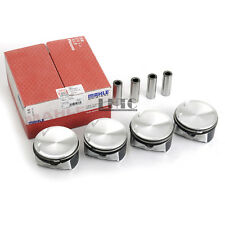 4x Pistons & Rings Set MAHLE For MAZDA 3 5 6 FORD Fusion 2.3L DOHC MZR DURATEC