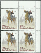 Scott 2818, the 1994 Buffalo Soldiers Issue - Plate Block of 4 - MNH
