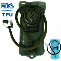 FDA Hydration Bladder 2L Water Bag Pack Outdoor Camping Hiking Airsoft BPA FREE