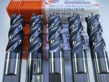 Lot 5 Pcs Imco 63099 Solid Carbide 12 End Mills 030 Corner Radius Tools